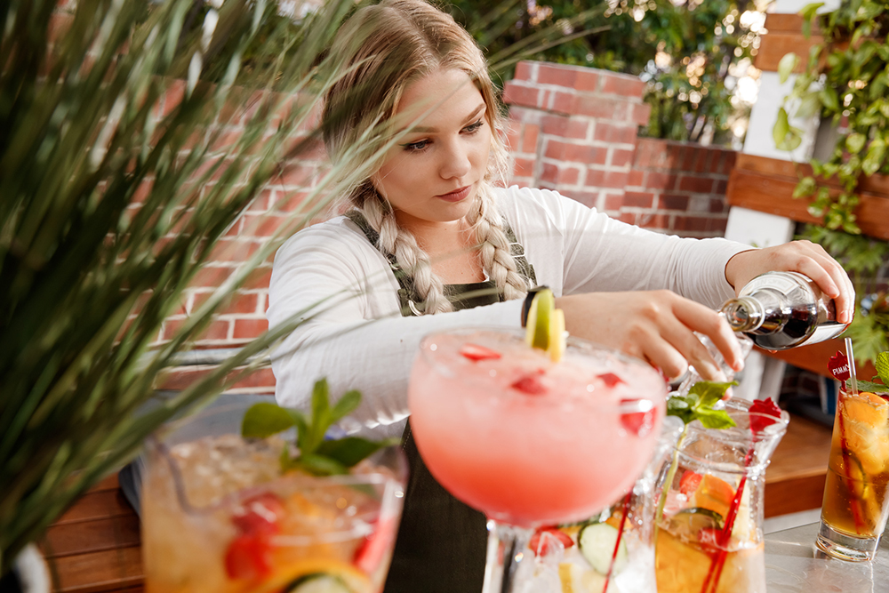 Cocktails in the Garden Bar