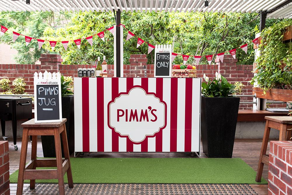 Norman Hotel Garden Bar Pimms Pop-Up Bar