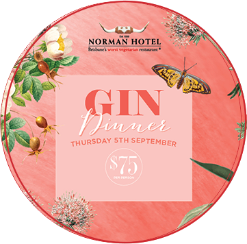 Norman Hotel Gin Dinner