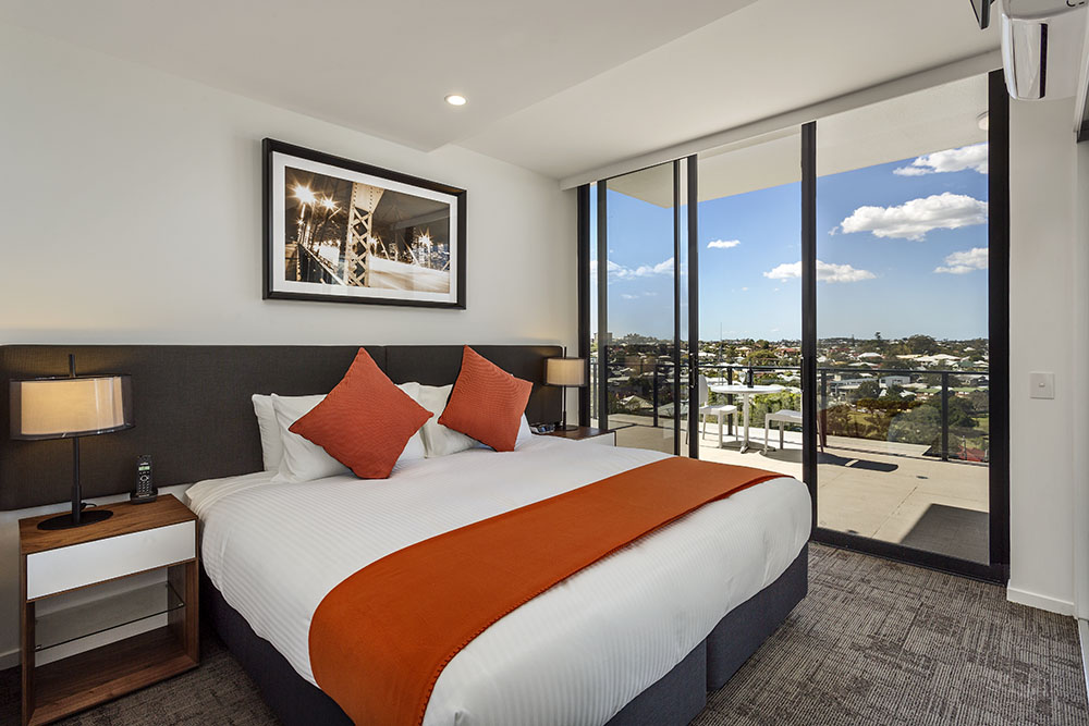 Quest Woolloongabba hotel bedroom