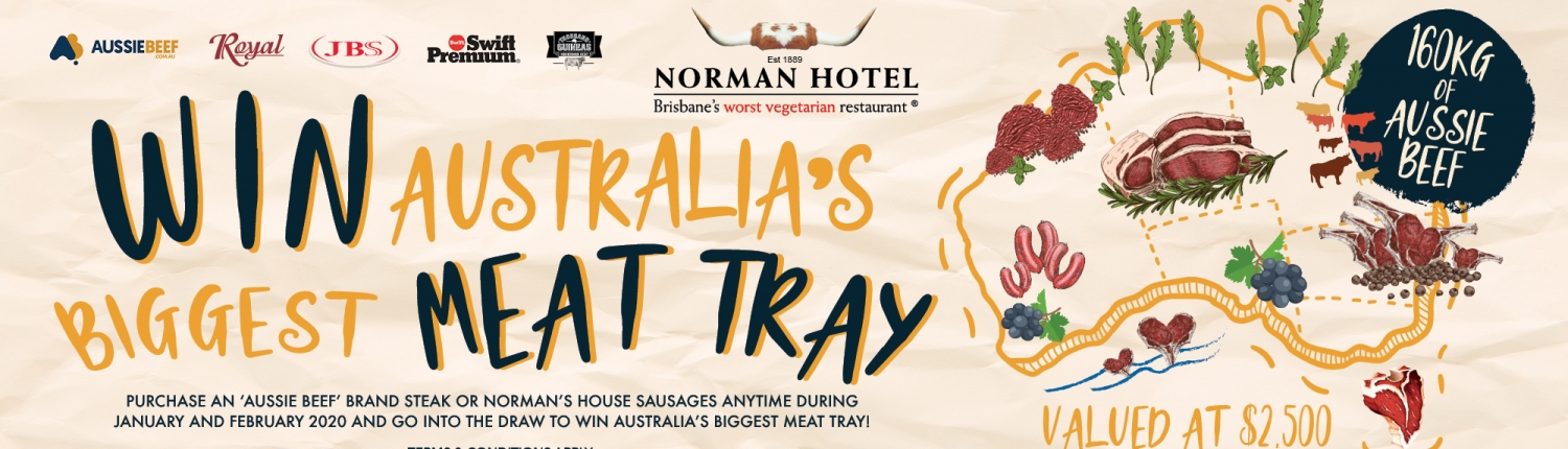 Win Australia's Biggest Meat Tray - 160Kg Aussie Beef