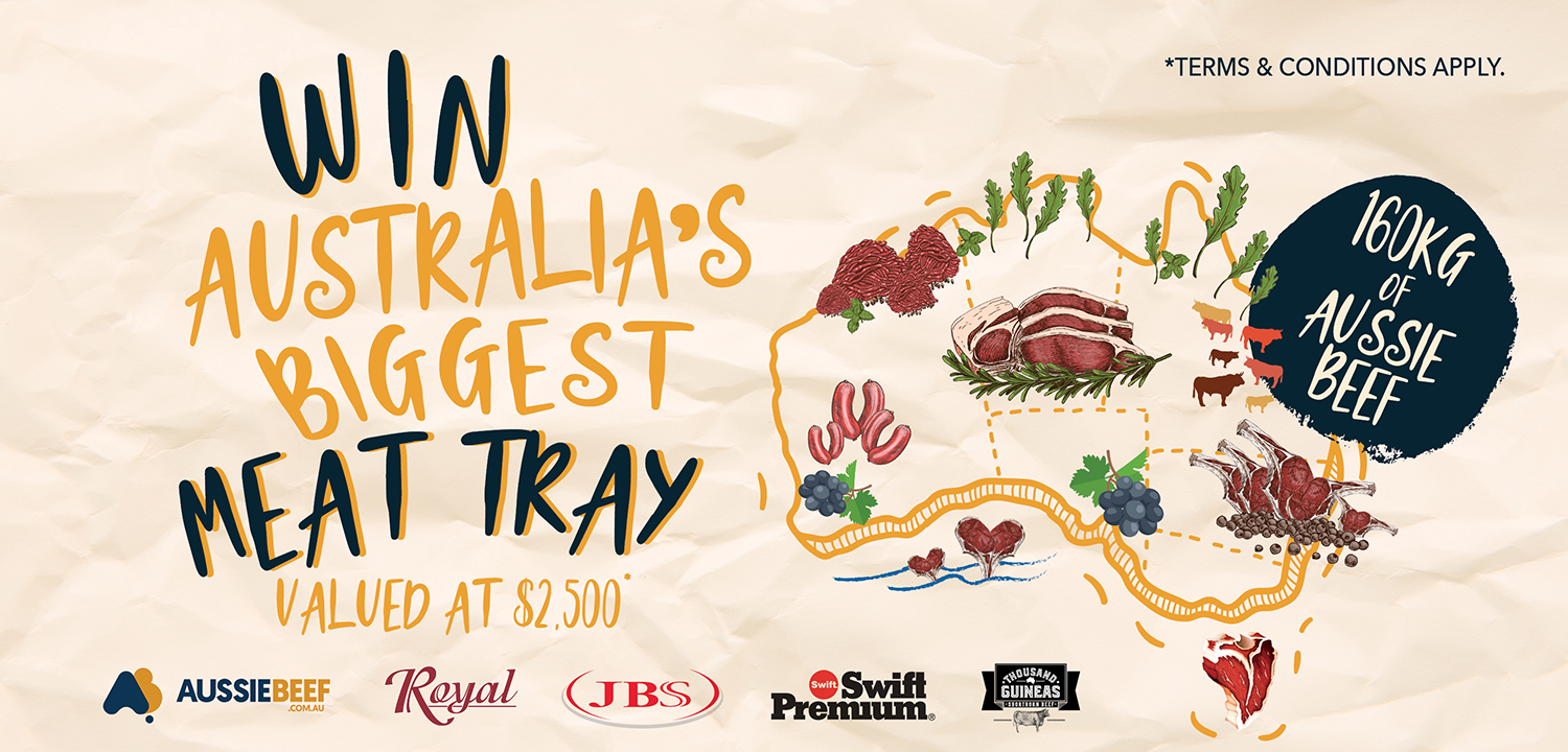 Win Australia's Biggest MEat Tray 160Kg of Aussie Beef at the Norman Hotel