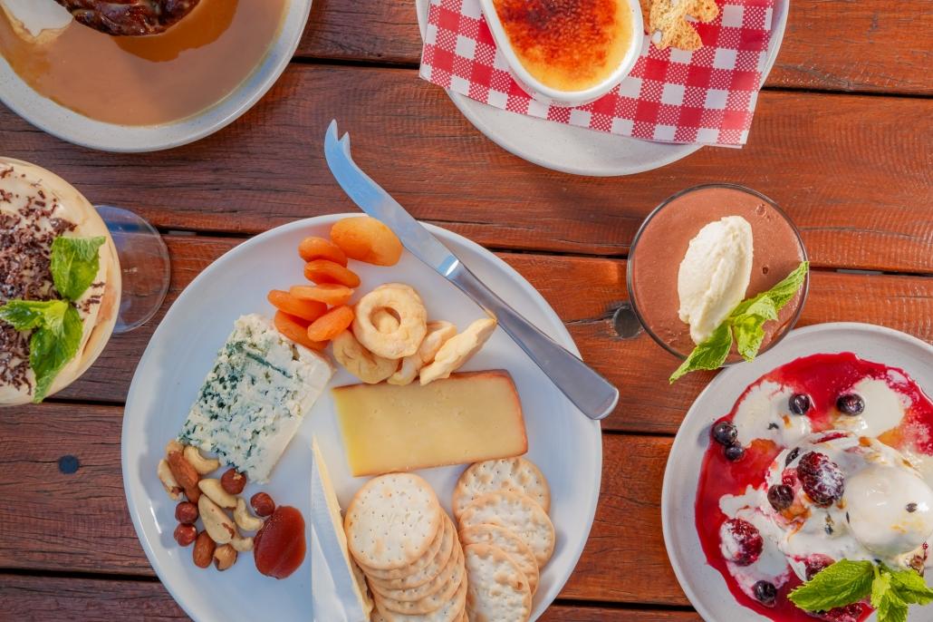 Cheese Platter int he Garden