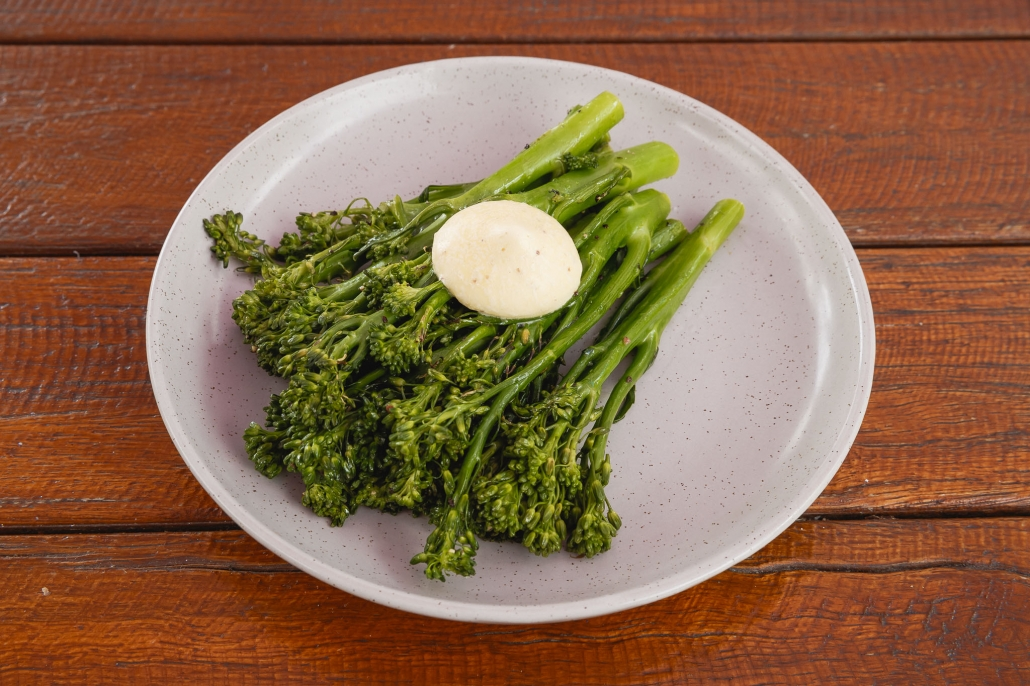 Steamed Broccolini w Whipped Garlic & Chilli Butter
