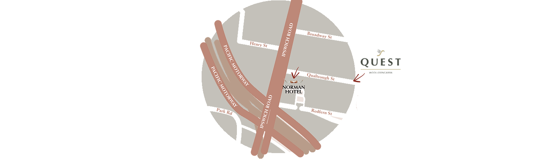 Norman Hotel Quest Woolloongabba Map